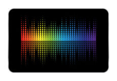 Tablet equalizer Royalty Free Stock Image