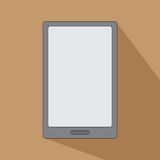 Tablet eReader for books smartphone icon flat design Royalty Free Stock Photo
