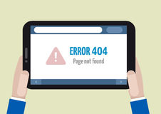 Tablet error 404 Stock Photo