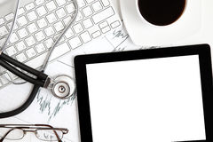 tablet för doktorskontor s arkivfoton