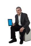 tablet för PC för affärsman modern Royaltyfria Bilder