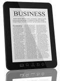 tablet för PC för nyheterna för affärsdator Royaltyfria Bilder