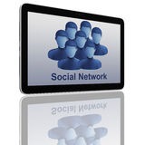 tablet för samkväm för datorgruppnätverk Arkivbilder