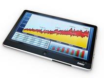 tablet för skärm för PC för affärsgraf Royaltyfria Foton