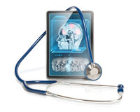 Tablet with fMRI Royalty Free Stock Images