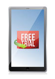 Tablet free trial message Stock Images