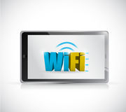 Tablet free wifi connection illustration design Royalty Free Stock Images