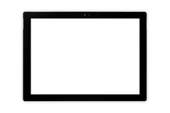 Tablet. Tablet front side isolate on white stock image
