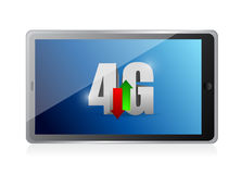 Tablet 4g connection. illustration design. Over a white background Stock Images