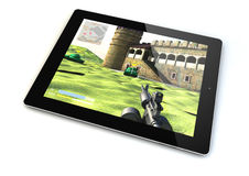 Tablet gaming Stock Photography