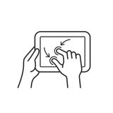 Tablet gesture icon Royalty Free Stock Photo