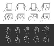 Tablet gesture icons Stock Images