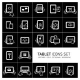 Tablet and gestures icon set Stock Photo