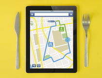 Tablet gps Lizenzfreies Stockbild