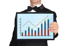 Tablet with graph Royalty Free Stock Photo