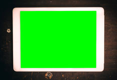 Tablet with green screen Royalty Free Stock Photos