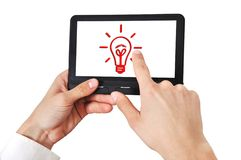 Tablet in hand Royalty Free Stock Images