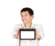 Tablet in a hand Stock Photography