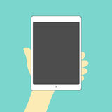 Tablet hand on Stock Image