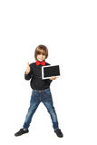 Tablet in hand boy Stock Photos