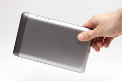 Tablet in hand Royalty Free Stock Image