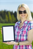 Tablet in hand Royalty Free Stock Photos