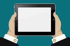 Tablet in handen Royalty-vrije Stock Afbeeldingen