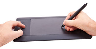 Tablet and hands Royalty Free Stock Photos