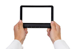 Tablet in hands Stock Photography