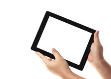 Tablet in hands Royalty Free Stock Photography