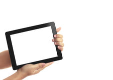 Tablet in hands Stock Images