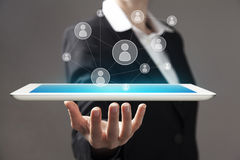 Tablet in hands Royalty Free Stock Images