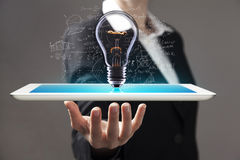 Tablet in hands Royalty Free Stock Photos