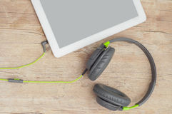 Tablet and headphones Royalty Free Stock Photo