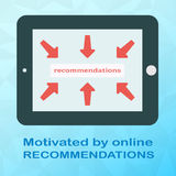 Tablet in horizontal position with arrows on screen in flat style on polygonal background.  royalty free illustration
