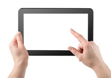 Tablet horizontally Royalty Free Stock Photo