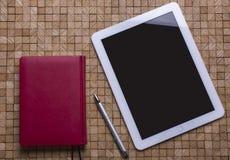 Tablet houten textuur Stock Afbeeldingen