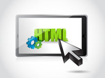 Tablet html access illustration design. Over a white background Royalty Free Stock Photo