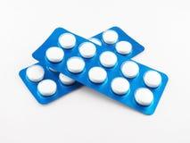 Tablet i blåsapacke Arkivfoton