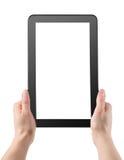 Tablet i händer fotografering för bildbyråer