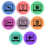 Tablet icon designs Stock Photography