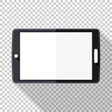 Tablet icon in flat style on transparent background. Tablet icon in flat style with long shadow on transparent background royalty free illustration