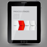 Tablet icon  illustration Stock Photo