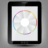 Tablet icon  illustration Stock Photography