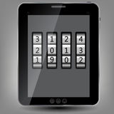 Tablet icon  illustration Stock Images