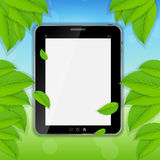 Tablet icon vector illustration on nature Stock Image