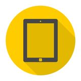 Tablet icons set with long shadow Stock Images