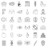 Tablet icons set, outline style Royalty Free Stock Photography