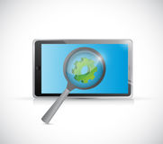 Tablet industry research concept illustration Stock Photography