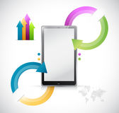 Tablet info graphics illustration design Royalty Free Stock Photos